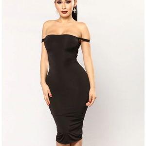Fashion nova black framed lace up dress